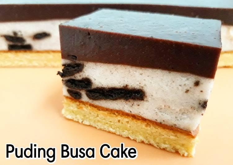 Puding Busa Cake || Lapis Coklat dan Oreo