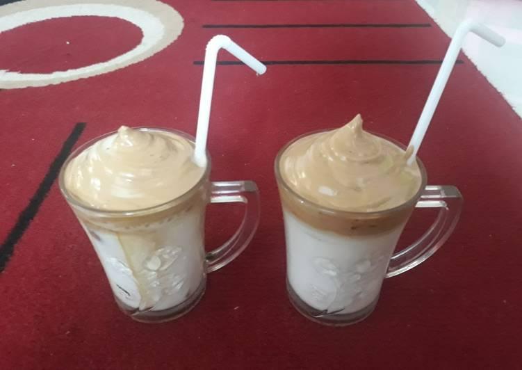 Cara Menyajikan Resep Mantab Dari Dalgona coffee