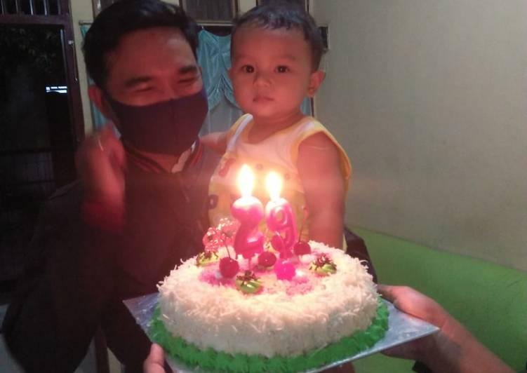 Kue ulang tahun (2) takaran sendok