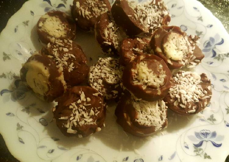 Easiest Way to Prepare Speedy Homemade Nutella chocolate coconut buttons😍