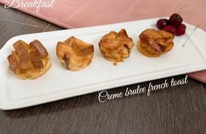 Creme brulee french toát - ăn dặm