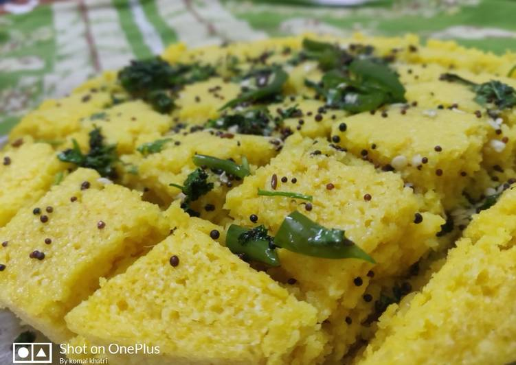 Khaman dhokla(sweet version)