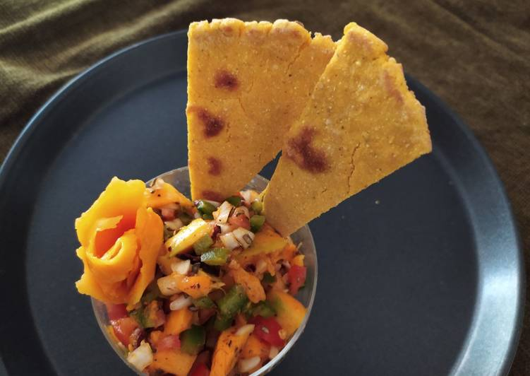 Recipe of Any-night-of-the-week Mango Salsa with Corn Sticks