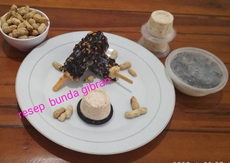 Es Krim Kacang Tanah / Es Krim Kacang Selimut Kacang Coklat