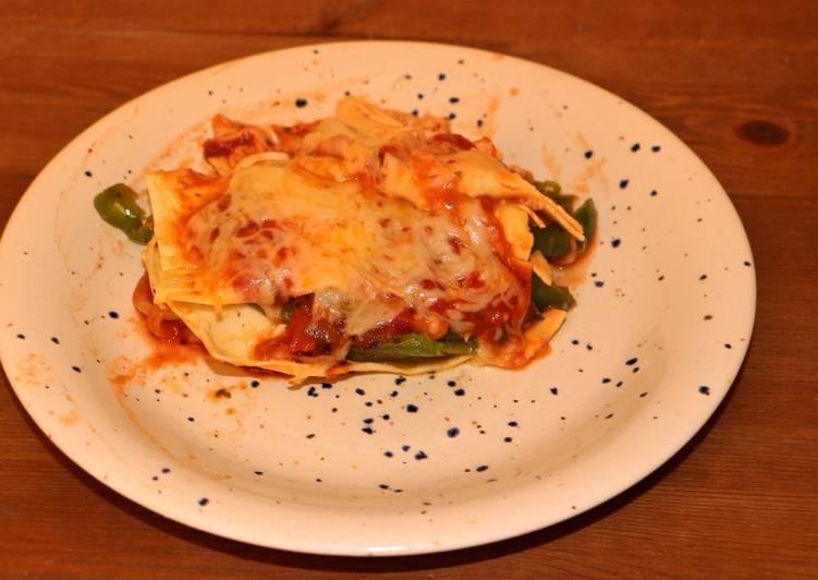 Lasagnes express avec les légumes du congélo
