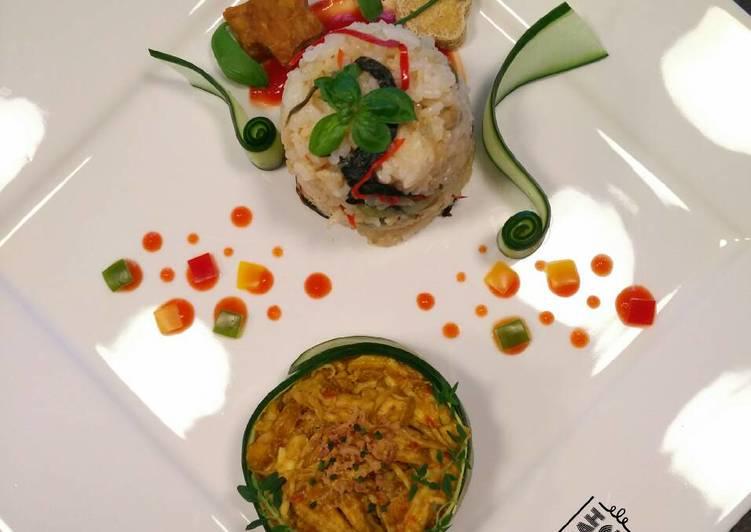 Nasi Liwet Kampung VS Ayam Suwir Pedas ala Bali