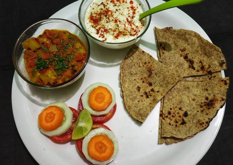 Multi Grain Chapati with Bottle Guard Curry