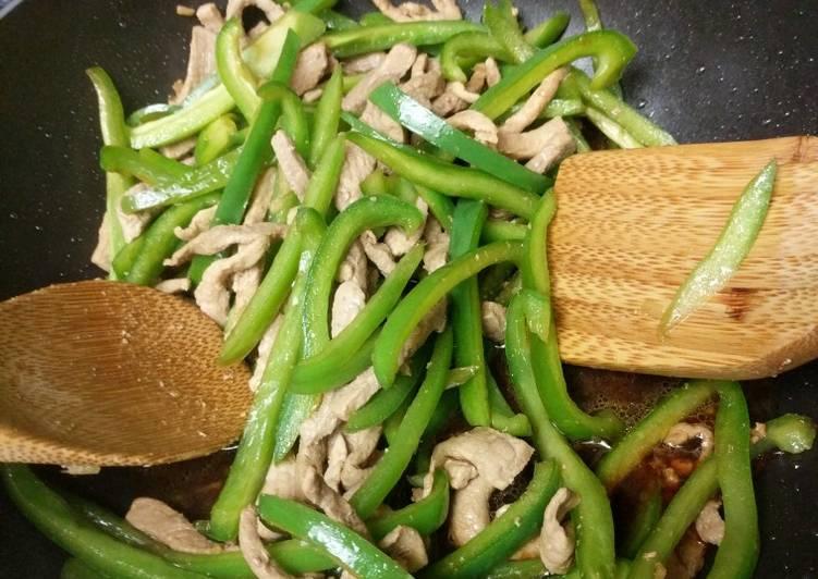 Recipe of Award-winning Chinese Easy Green Pepper Pork