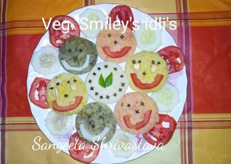 15 Minute Recipe of Any Night Of The Week Veg smiley idli's
