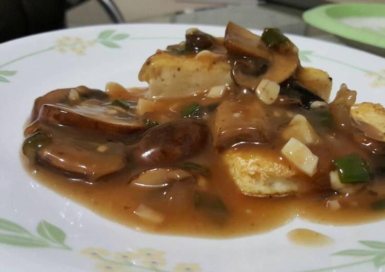Tofu mushroom marsala