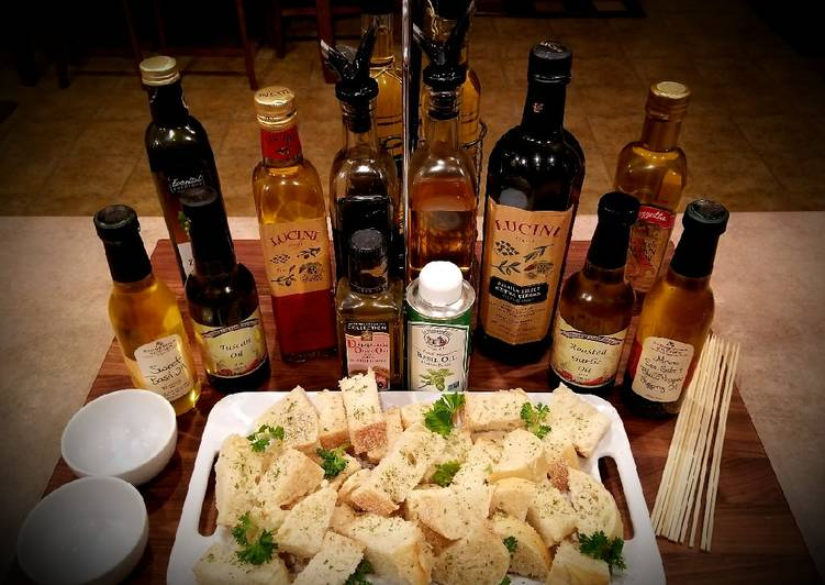 Recipe of Ultimate Mike's Bread - Dipping Oils & Cheese Appetizers