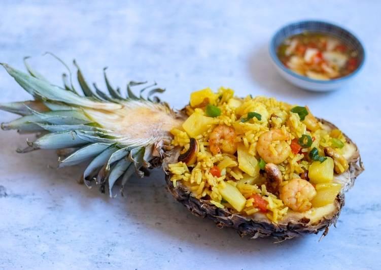 Thai pineapple stir fried rice 🍍🏖