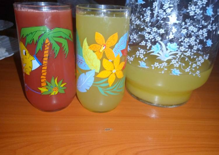 Pineapple and Watermelon Fruit juice