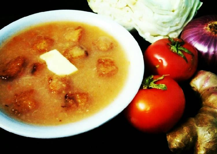 Steps to Prepare Speedy Cabbage and tomato soup