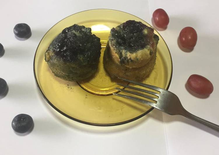 Blueberry grape mug muffins
