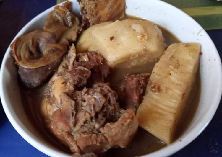 Smoked Chicken and Yam pepper soup #XmasFood #OneRecipeOneTree, Some Foods That Help Your Heart