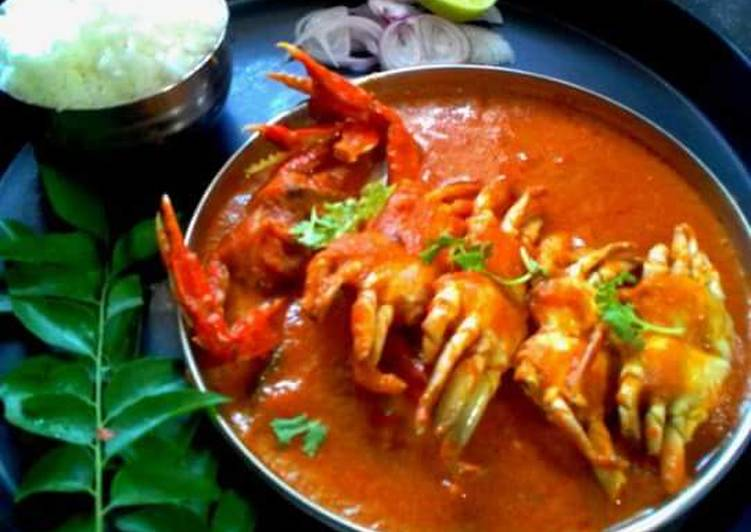Spicy tange village style crab curry