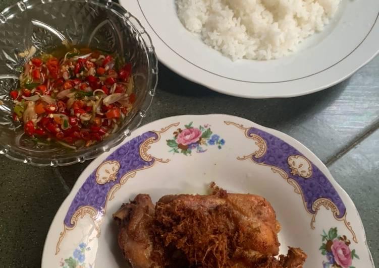 Ayam laos + sambal matah