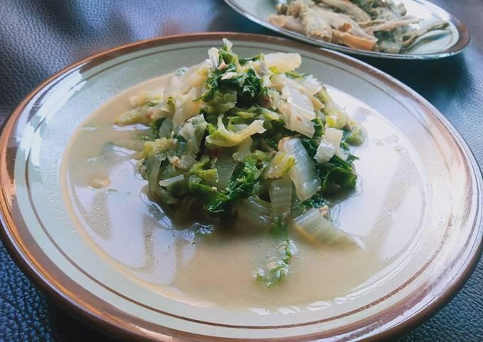 sayur lodeh sawi putih - resepenakbgt.com