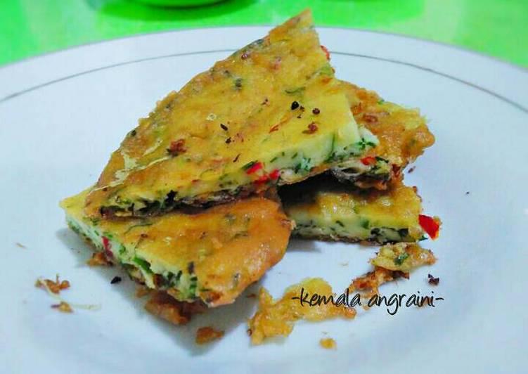Telur Dadar Padang ala Bumbi (Resep Ibu)