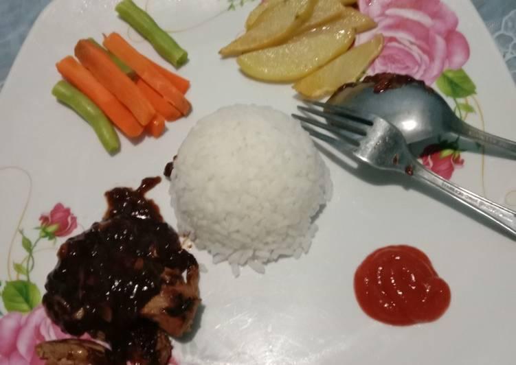 Resep Ayam bakar saos lada hitam Yang Mudah Bikin Ngiler
