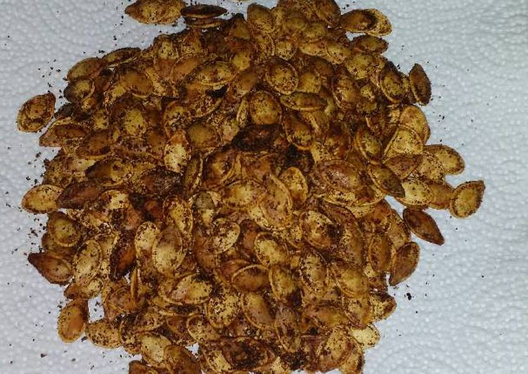 How to Make Super Quick Homemade Spicy Cajun Roasted Pumpkin Seeds