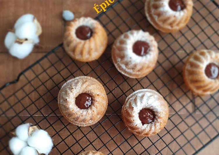 Comment Servir Petits moelleux crème de marrons cœur chocolat