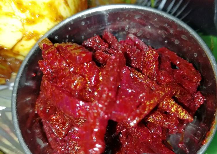 Beetroot achar Choosing Fast Food That's Very good For You