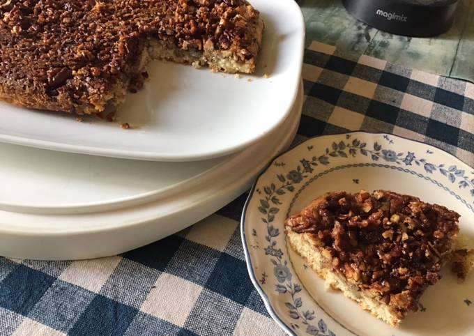 Gâteau noix de pecan citron et cannelle