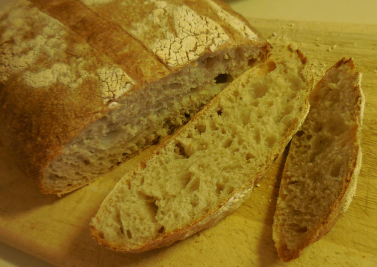 How to Prepare Award-winning Overnight Sourdough Bread - Sticky Wet Dough