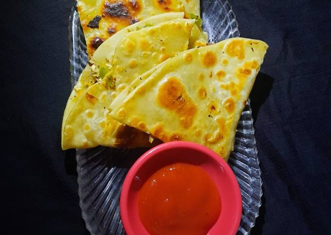 Step-by-Step Guide to Prepare Quick Mexican chessy vegetable quesadilla