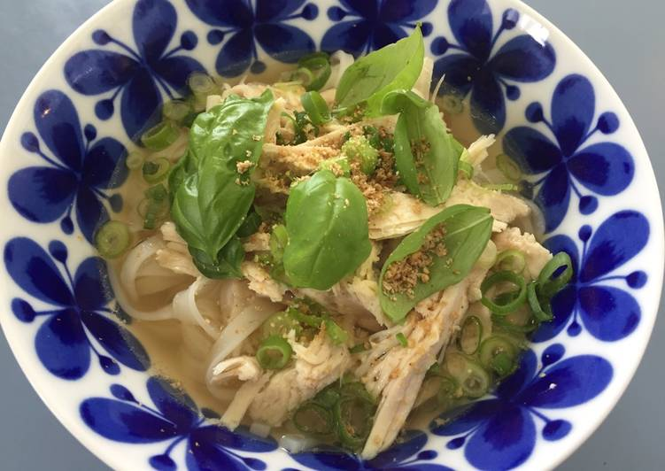 Easiest Way to Make Appetizing Turkey Pho, Vietnamese rice noodles, Gluten Free
