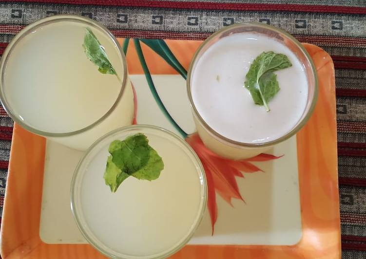Recipe of Homemade Raw mango raisins juice