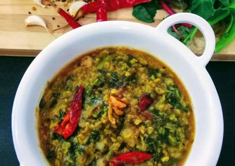 Recipe of Perfect Amaranth Moong Dal Curry