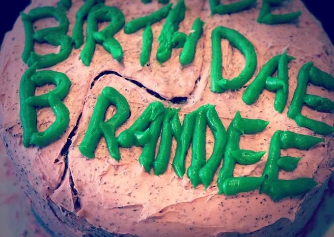 Harry Potter Themed Chocolate Cake