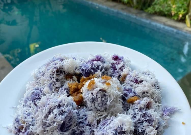 Resep Klepon ubi ungu Gampang