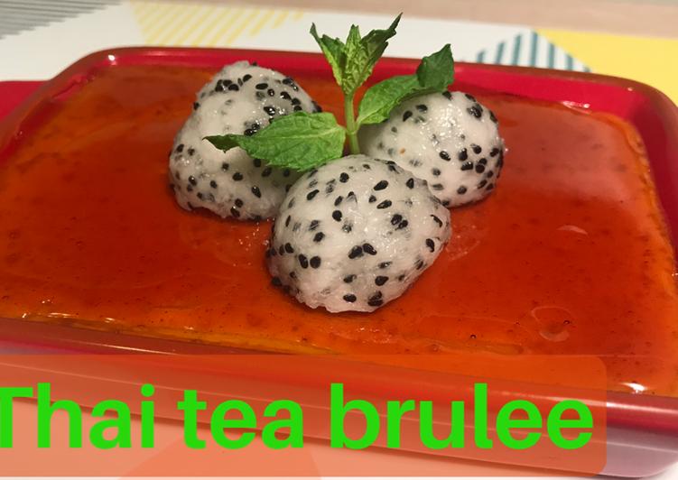 Quick and Easy Recipe: Perfect Thai tea Brulee – vegan – no torch