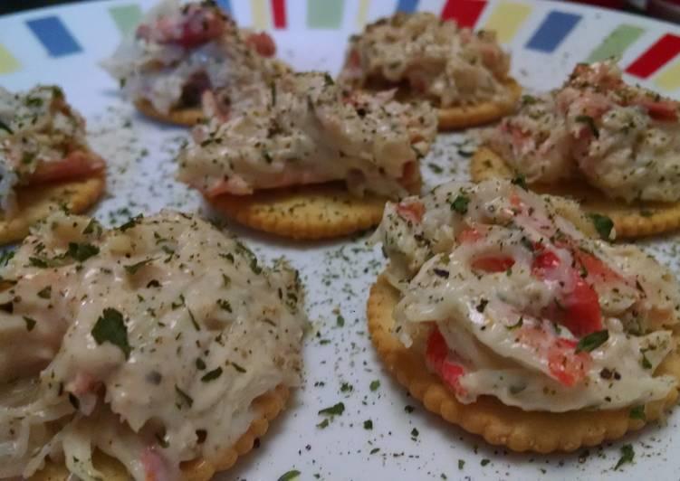 Crab Salad Crackers