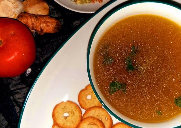 Chicken yakhni soup