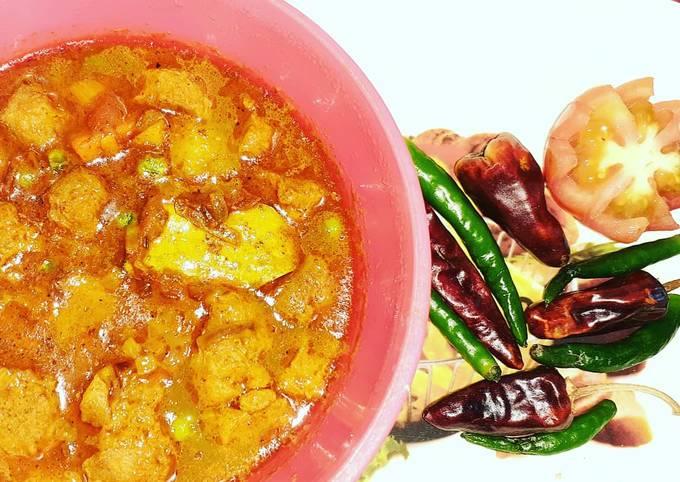 SOYACHUNKS peas curry