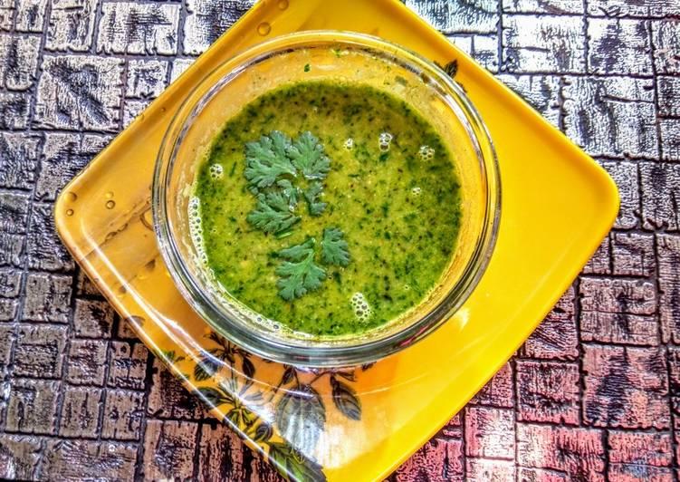 Green chana curry