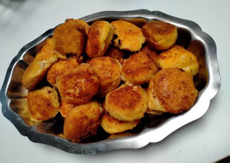 Comment faire Préparer Appétissante Croquettes apéritives pomme de terre et pancetta