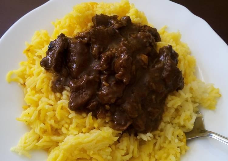 Tumeric rice and beef