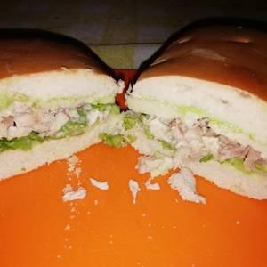 Sándwich de pollo sin mayonesa
