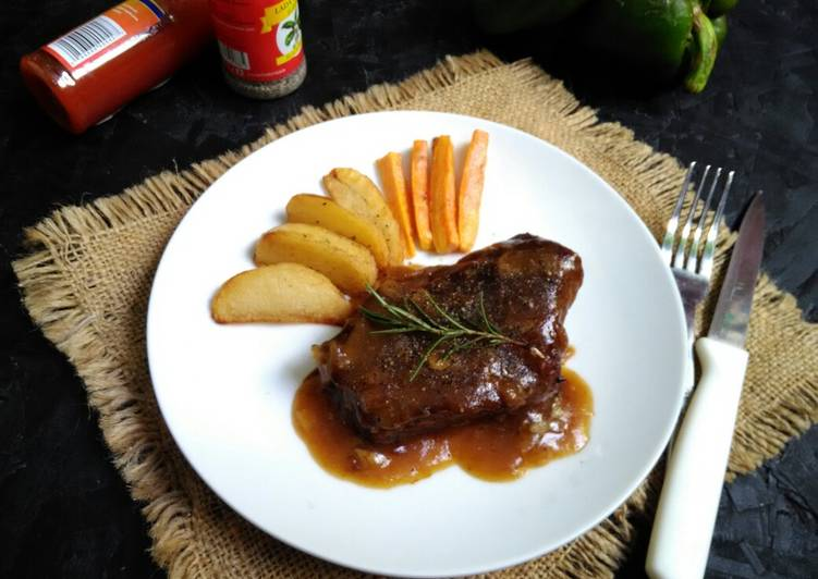Steak Daging Sapi Saus Lada Hitam