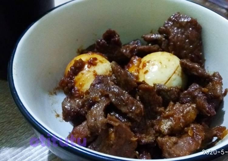 Semur Lapis Daging telur