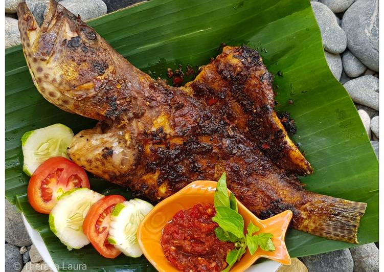 43.Ikan Kerapu (Goropa) Bakar 3 Rasa 🐟🌶😍💕