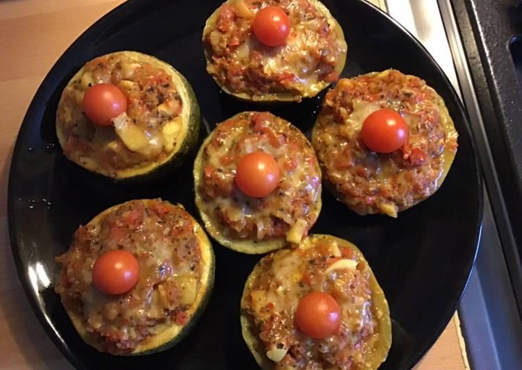 Courgettes en cocotte farcies tomates et poivrons