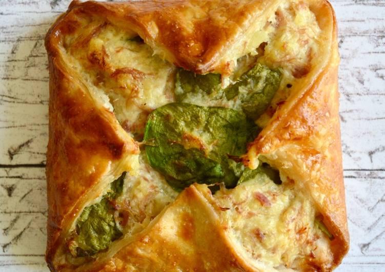 Recipe of Award-winning Ham Hock & Spinach Parcels