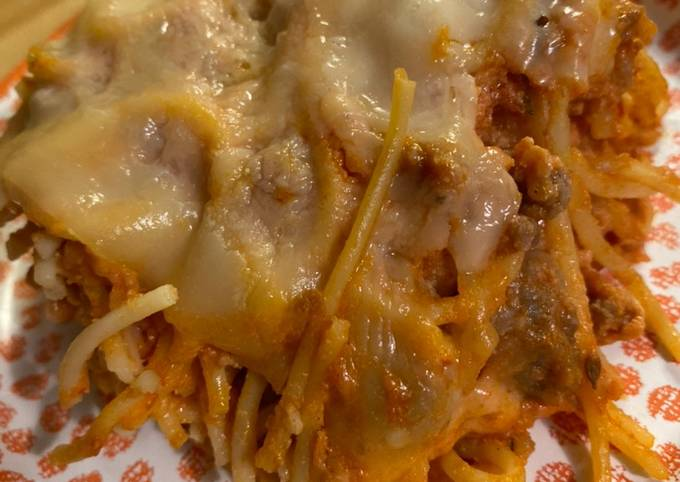 Tutorial Of So Easy and So Tasty Baked Spaghetti Delicious